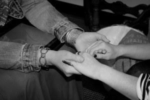 Praying hands bw upload