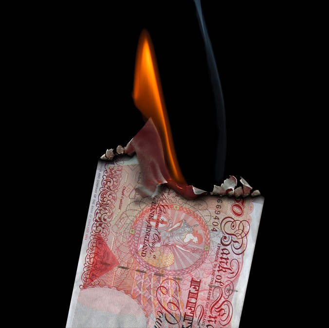 people issues cost money picture of burning money