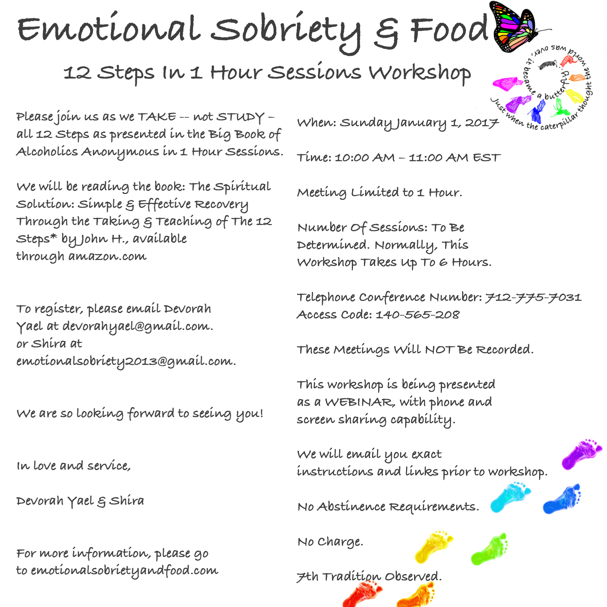 Emotional Sobriety And Food 12 Steps In 1 Hour Sessions Workshop Emotional Sobriety And Food