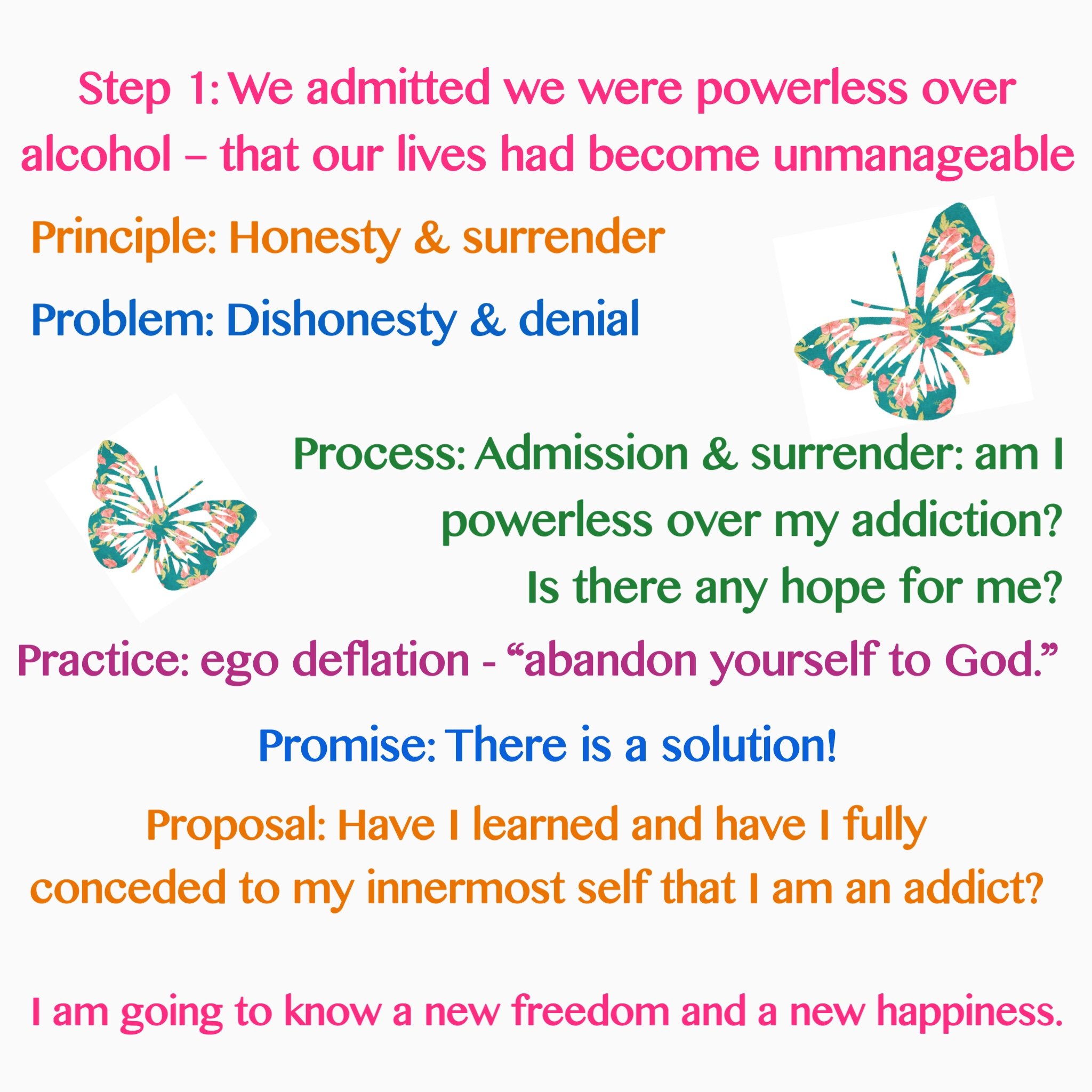 Introduction And Review Of Steps Emotional Sobriety And Food