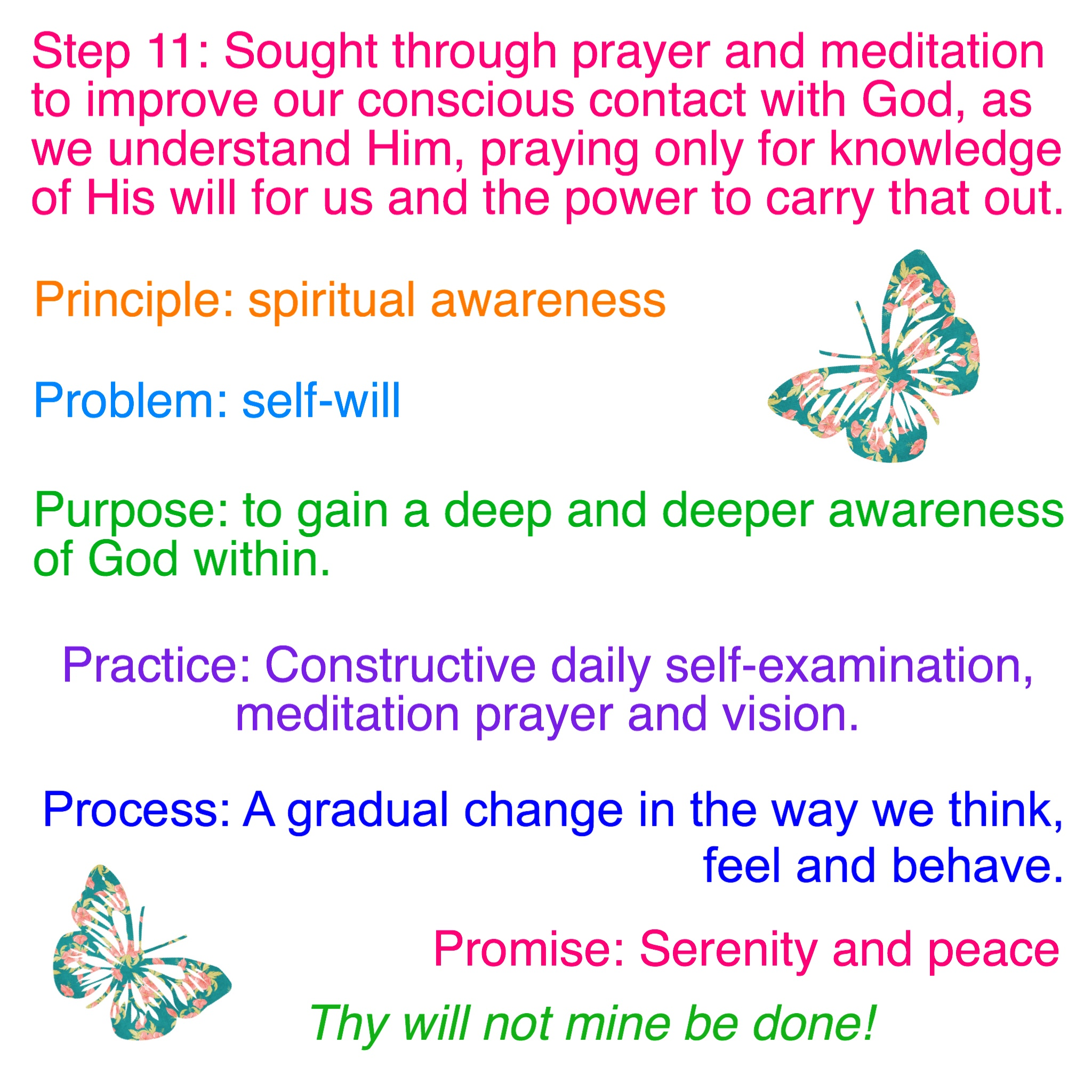 Step 11 Amp Tradition 11 Worksheets Emotional Sobriety And