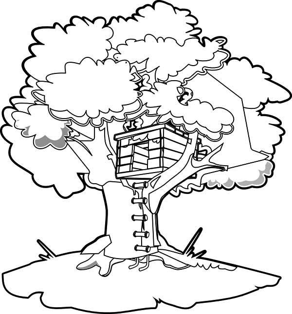 How-to-Draw-a-Treehouse-Coloring-Page