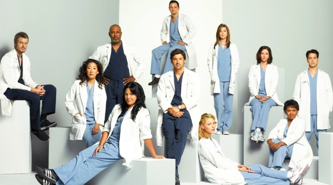 GREY'S ANATOMY - ÒGreyÕs AnatomyÓ stars Ellen Pompeo as Meredith Grey, Patrick Dempsey as Derek Shepherd, Sandra Oh as Cristina Yang, Katherine Heigl as Isobel ÒIzzieÓ Stevens, T.R. Knight as George OÕMalley, Justin Chambers as Alex Karev, Chandra Wilson as Miranda Bailey, James Pickens, Jr. as Richard Webber, Sara Ramirez as Callie Torres, Eric Dane as Mark Sloan and Chyler Leigh as Lexie Grey. (ABC/BOB D'AMICO) ERIC DANE, SANDRA OH, JAMES PICKENS, JR., SARA RAMIREZ, JUSTIN CHAMBERS, PATRICK DEMPSEY, KATHERINE HEIGL, ELLEN POMPEO, CHYLER LEIGH, CHANDRA WILSON, T.R. KNIGHT