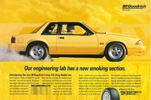 Alternative Auto's Tropical Yellow '88 Mustang LX was the first car in the BFGoodrich T/A Tire ad series has and being featured in numerous magazine articles.