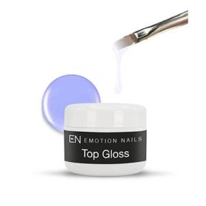 Gel UV sigillante lucido, brillante e resistente. Il caratteristico riflesso viola garantisce il non ingiallimento della ricostruzione.