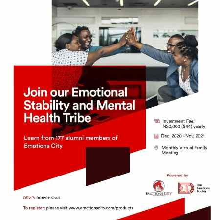 Emotional Stability and Mental Health Tribe 2021