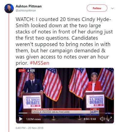 112818-02 Cindy Hyde-Smith Notes