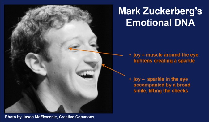 Mark Zuckerberg's emotional DNA