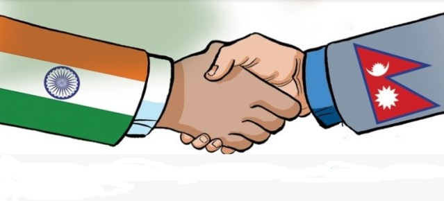 flag of nepal and india
