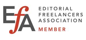 Member of the Editorial Freelancers Association (EFA)