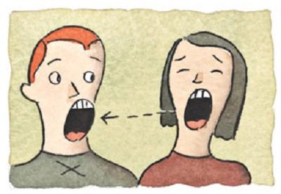 two people yawning