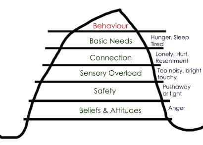 Behaviour iceberg