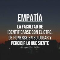 ¡Empatía!