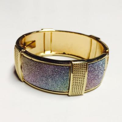 Gold rainbow sparkly bangle
