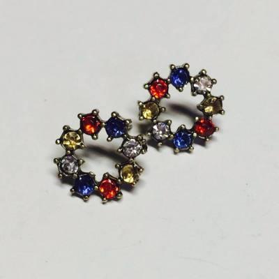 rich gem stud earrings