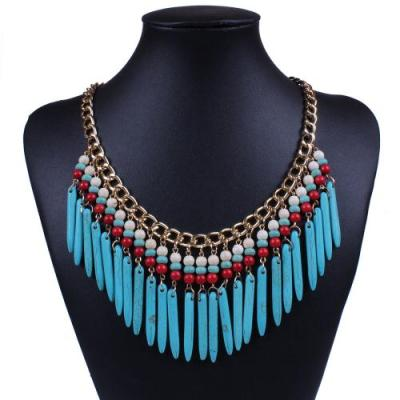 Tribal style turquoise necklace