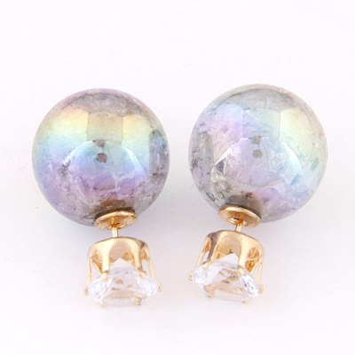 Opalescent reverse ball stud earrings