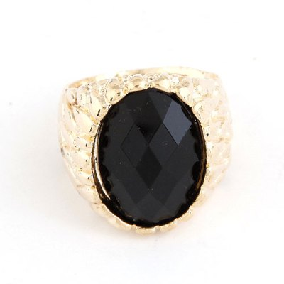 Gold and black gem ring