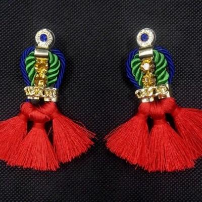 Alimayu fringed bright bohemian african inspired earring