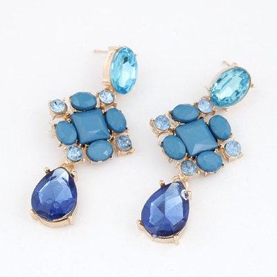 Kinsley statement blue tone chandelier earrings