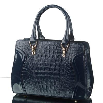 Luie handbag faux croc in navy