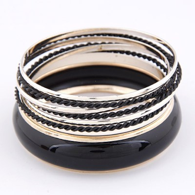 Black and gold metal bangles Empayah Brisbane
