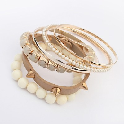 Fashion bracelets range of colours in tan cream