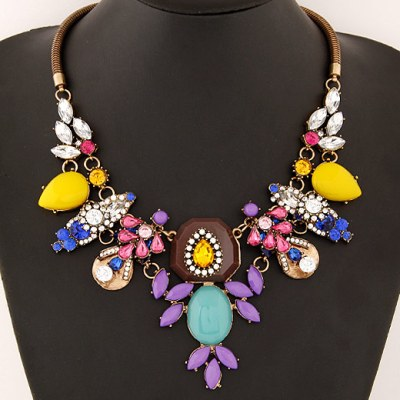 Zuzana statement gem necklace