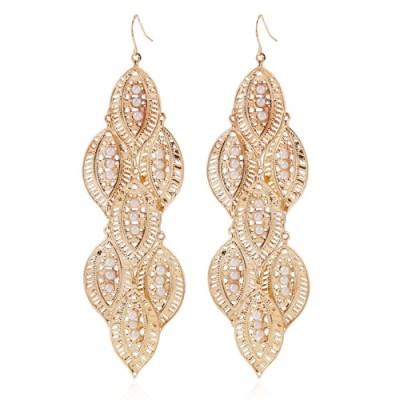 Nairi chandelier gold earring