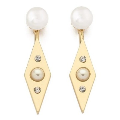 Kaur pearl earrings gold_LI