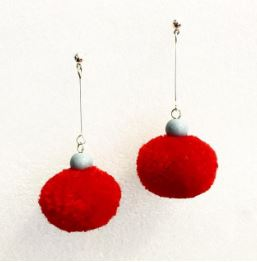 Lorikeet pompom earrings HM