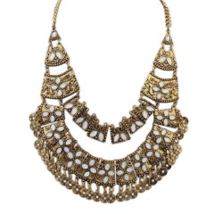 Zaire tribal necklace gold
