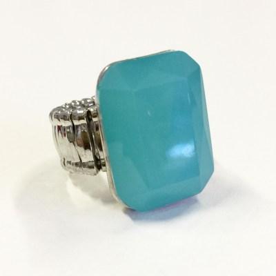 Gemma Gem ring milky turquoise