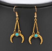 Oxhorn earrings gold
