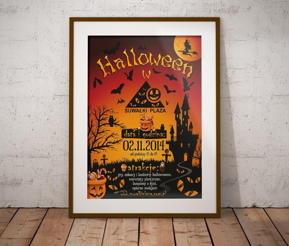 Suwałki Plaza Plakat przygotowany na imprezę Halloweenową.