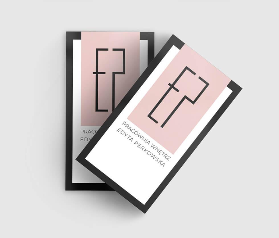 Pracownia Wnętrz Edyta Perkowska Projekt logotypu oraz wizytówki przygotowany dla Białostockiej firmy Pracownia Wnętrz Edyta Perkowska