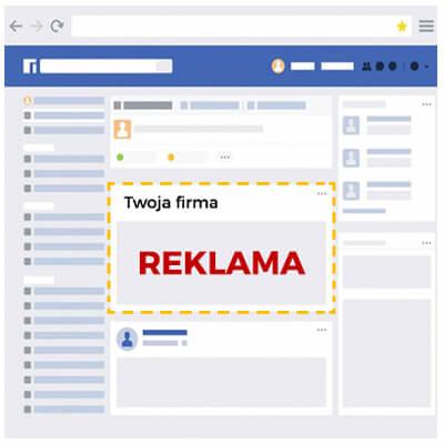Grafika przedstawia schematyczny wygląd wyników wyszukiwania na Facebooku
