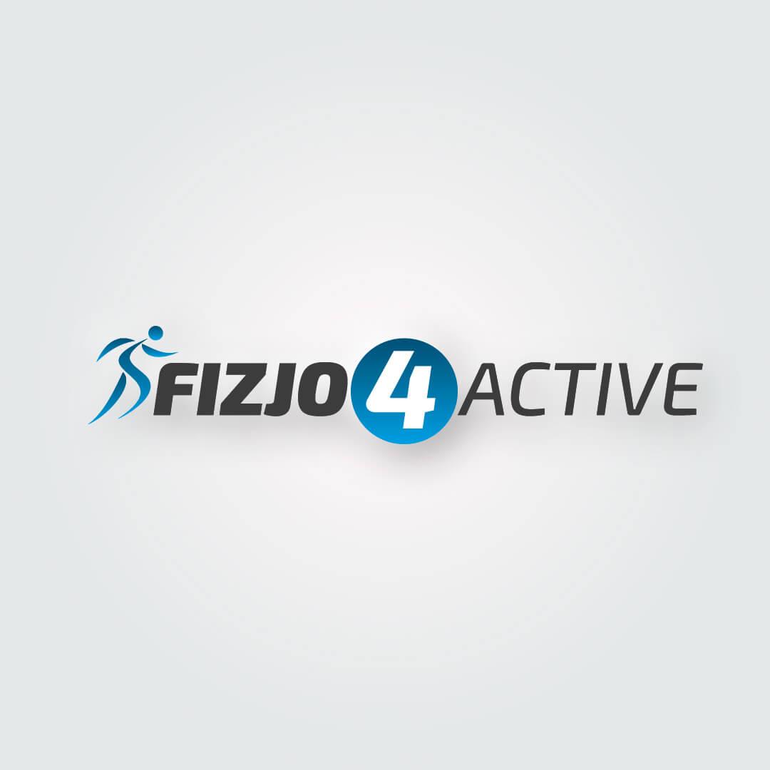 Fizjo4Active Logo przygotowane na potrzeby fizjoterapii.