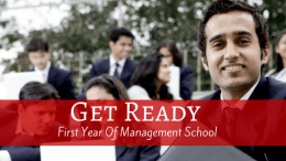 Prepare For The First Year Of Management School