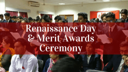 Renaissance Day & Merit Award Ceremony - Event Wrap Up