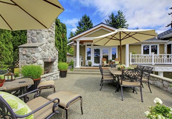 build an outdoor fireplace