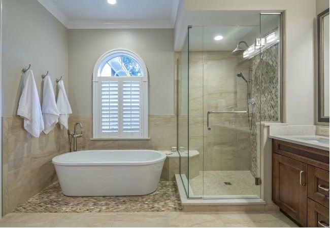 tub vs shower the big bathroom