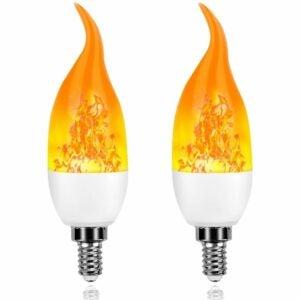 Die beste Option für Flammenglühbirnen: Artistic Home Dormily Xmas Decor Flame Glühbirnen