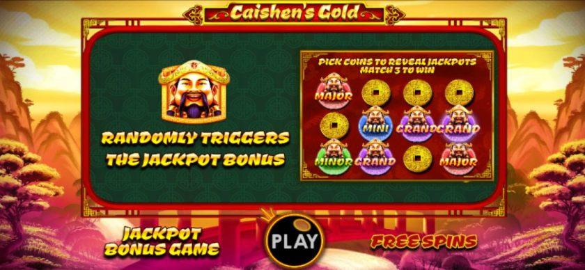 Malaysia Jackpot Caishens Gold