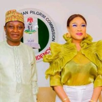 Nigerians react as Tonto Dikeh becomes Ambassador of Nigerian Pilgrim Commission