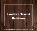 Landlord/Tenant Relations