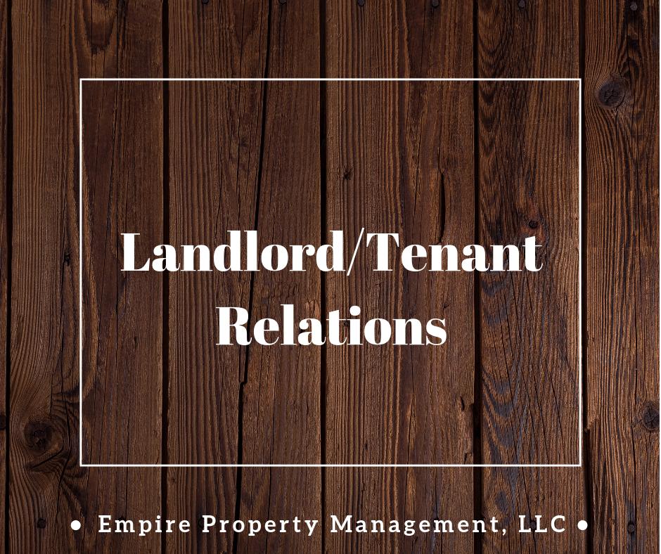 Landlord/Tenant Relations