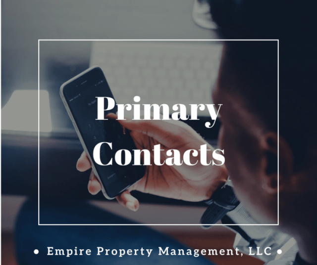 Primary Contacts