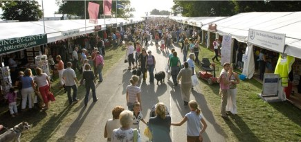 shopping at the Land Rover Burghley Horse Trials