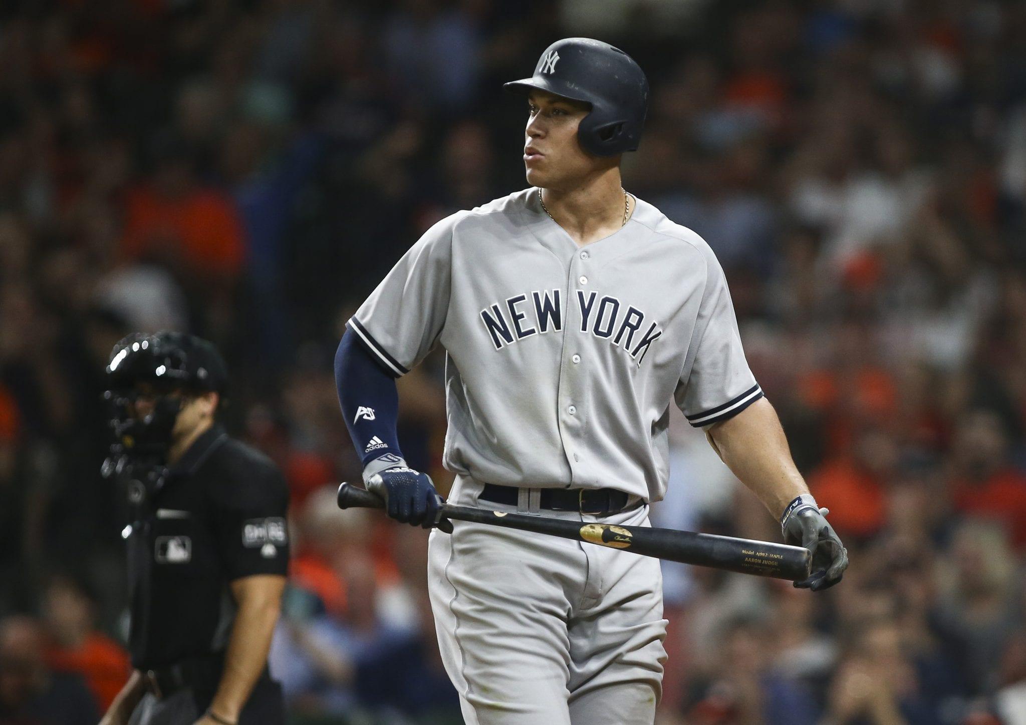 New York Yankees slugger Aaron Judge.